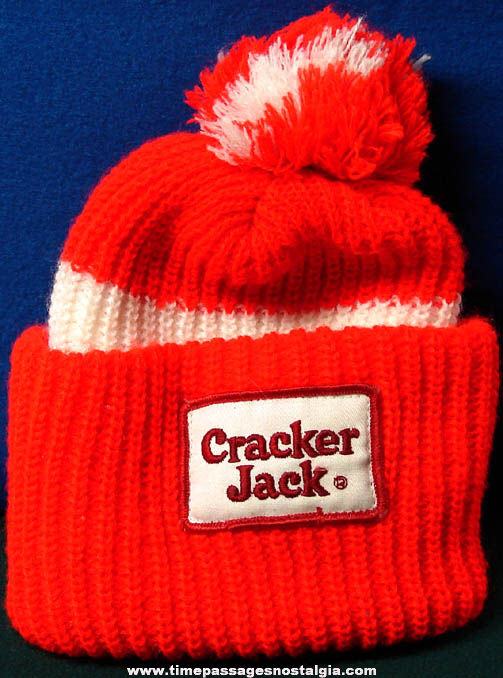 Old Unused Cracker Jack Advertising Toboggan Knit Hat