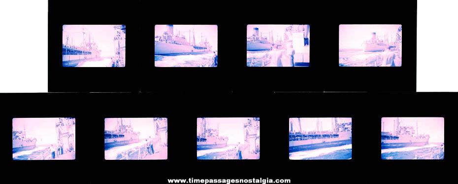 (9) April 1966 U.S. Navy Ship U.S.S. Cacapon (AO-52) Fleet Oiler Photograph Slides