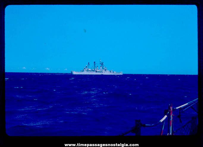 April 1966 U.S. Navy Ship U.S.S. Topeka (CLG-8) Light Cruiser Photograph Slide