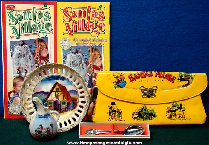 (6) New Hampshire Santa's Village Advertising & Souvenir Items