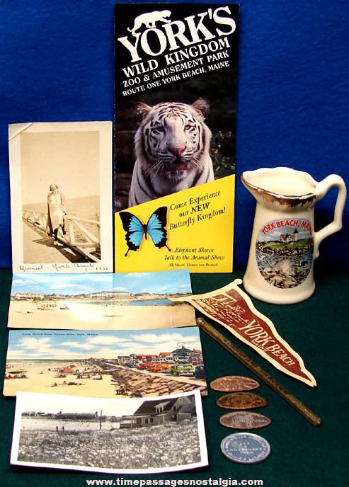 (12) Old York Beach Maine Advertising and Souvenir Items