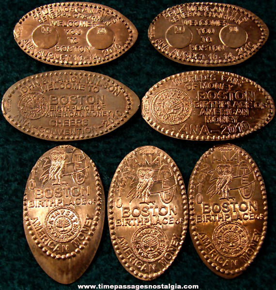(7) Birthplace of American Money Advertising & Souvenir Elongated Cents