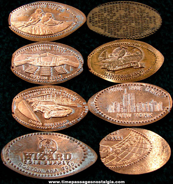 (8) Different Advertising & Souvenir Elongated Cents