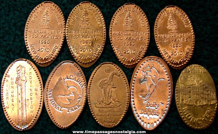 (9) Advertising & Souvenir Elongated Cents