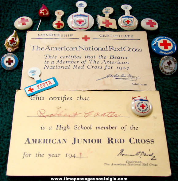 (15) Different Small Old American Red Cross Advertising Items