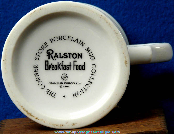 Colorful ©1984 Ralston Purina Cereal Advertising Franklin Porcelain Coffee Mug