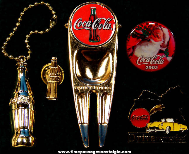(5) Different Small Metal Coca Cola Advertising Items
