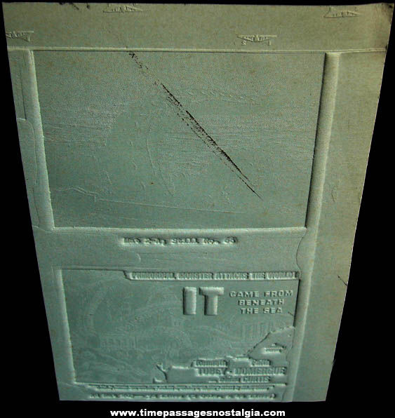 (2) Unused 1955 It Came From Beneath The Sea Movie Ad Mat Molds