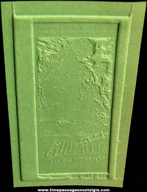 Unused 1954 Godzilla King of The Monsters Movie Ad Mat Mold