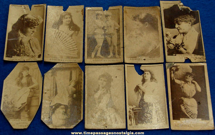 (10) Old Cigarette Advertising Premium Actress Photograph Cards
