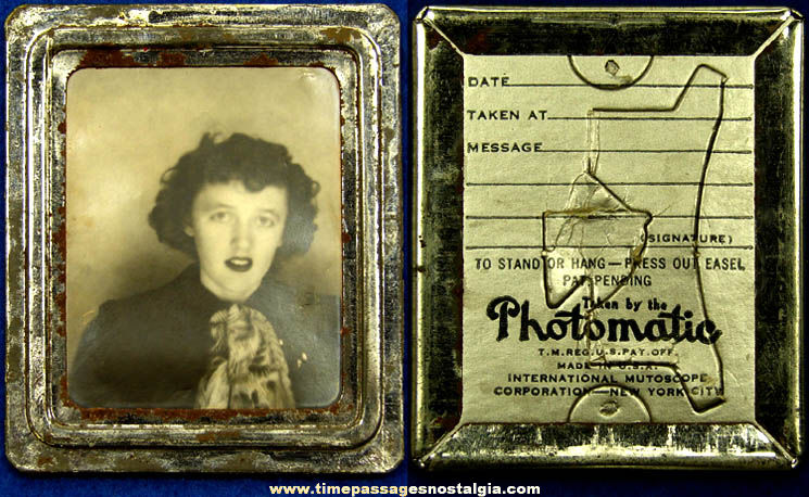 Old International Mutoscope Corporation Souvenir Photomatic Photograph
