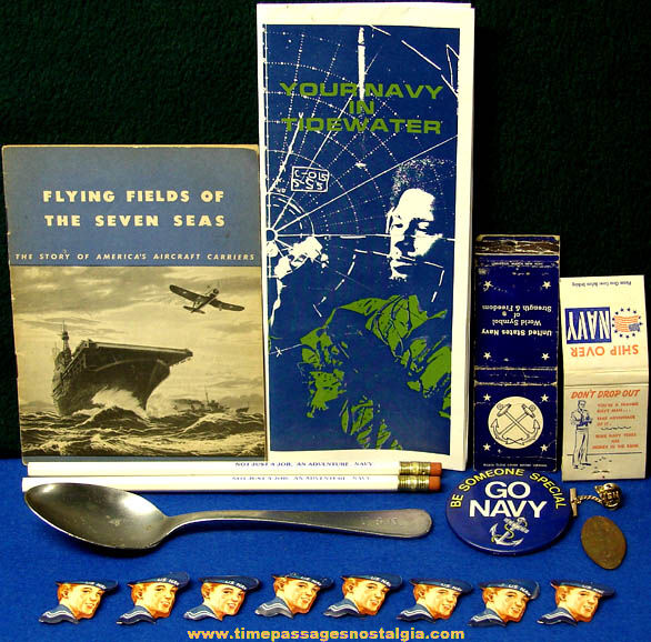 (18) Old United States Navy Advertising & Souvenir Items