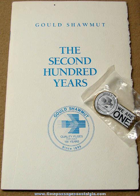 (4) 1990 Gould Shawmut Company 100th Anniversary Advertising Souvenir Items