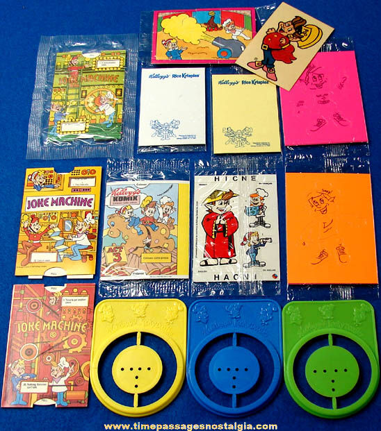 Kellogg s cereal box prizes from the 90s