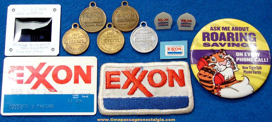 (12) Small Old Exxon Gasoline & Oil Advertising & Premium Items