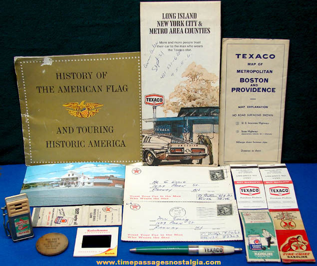 (15) Small Old Texaco Gasoline & Oil Advertising & Premium Items