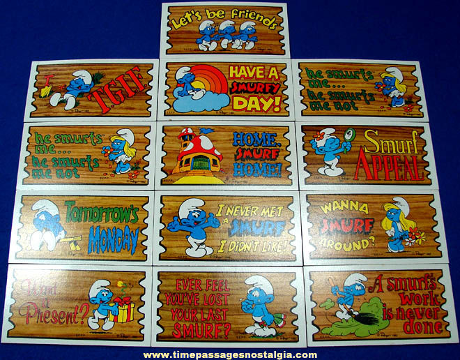 (13) ©1982 Smurf Character Supercards Non Sports Trading Cards
