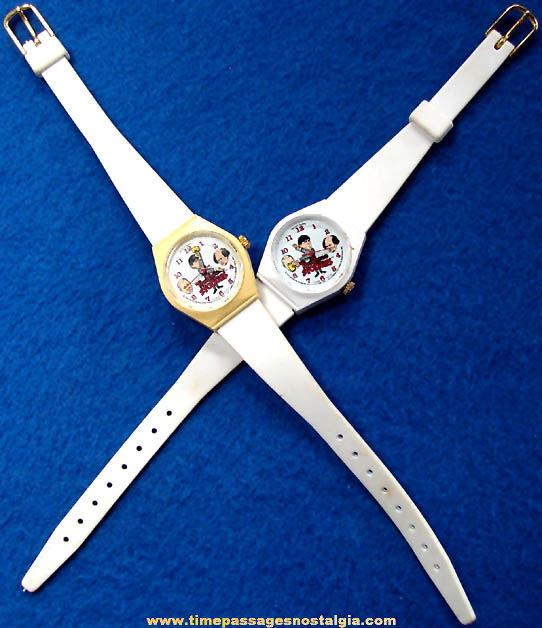 (2) Unused ©1985 Three Stooges Comedian Character Bradley Wrist Watches