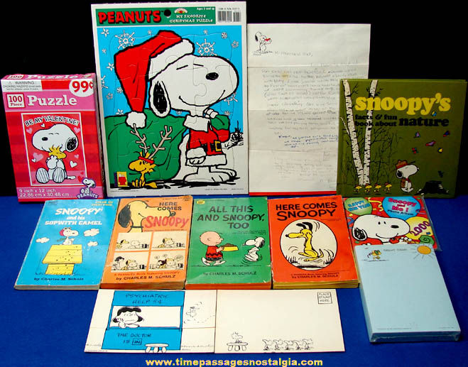 (12) Old & New Charles Schulz Peanuts Comic Strip Character Items