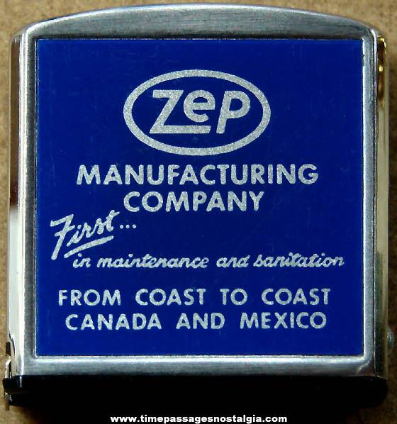 Old Zep Manufacturing Company Advertising Premium Barlow Tape Measure