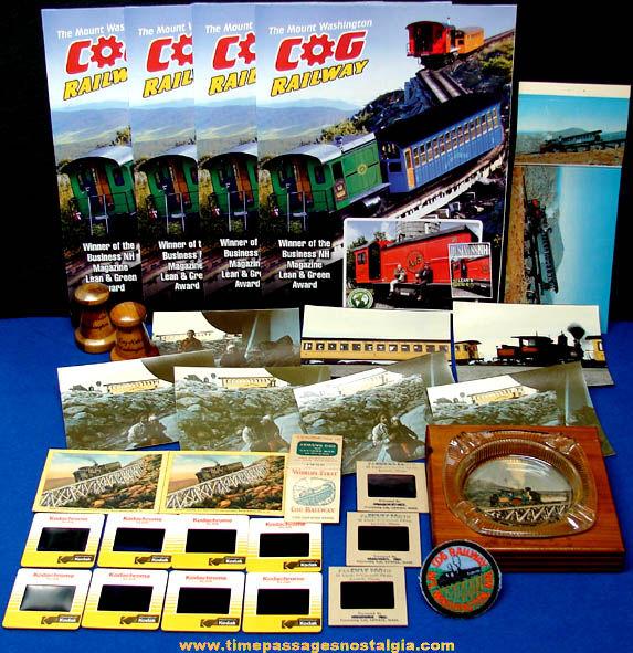 (30) Mount Washington New Hampshire Cog Railway Advertising & Souvenir Items