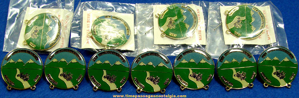 (11) Unused 1987 New Hampshire Retreads Advertising Motorcycle Pins