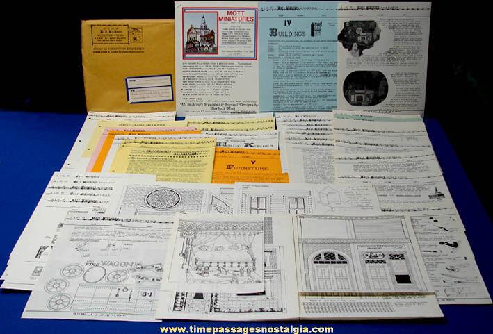 (175 pages) 1975 Mott Miniature Museum Newsletters, Information, & Miniature Building Plans