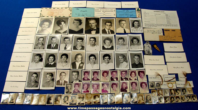 (114) 1958 - 1963 Englewood High School Jacksonville Florida Photographs Name Cards & Souvenirs