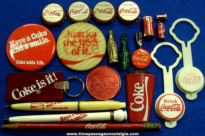 (20) Small Old Coca Cola Soda Advertising & Premium Items