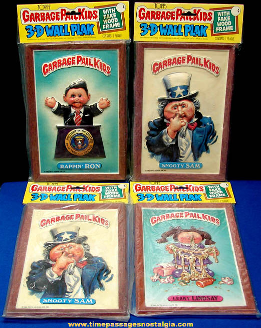 (4) Unopened ©1986 Topps Garbage Pail Kids 3-D Wall Plaks