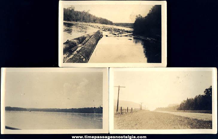 (11) Different 1924 White Mountains New Hampshire Tourist Photographs