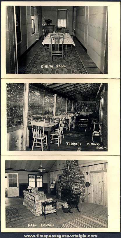(6) Different Old Norcross Lodge Advertising Souvenir Real Photo Post Cards