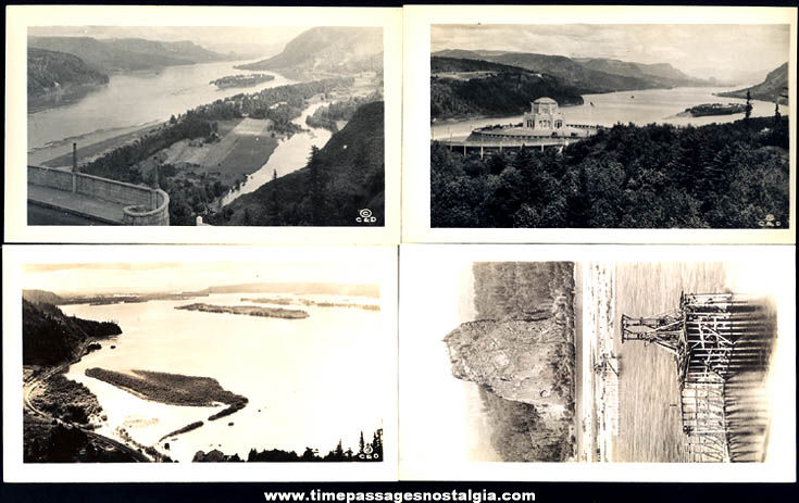 (20) Old Columbia River Highway Oregon Advertising Souvenir Photographs With Mailer Envelope