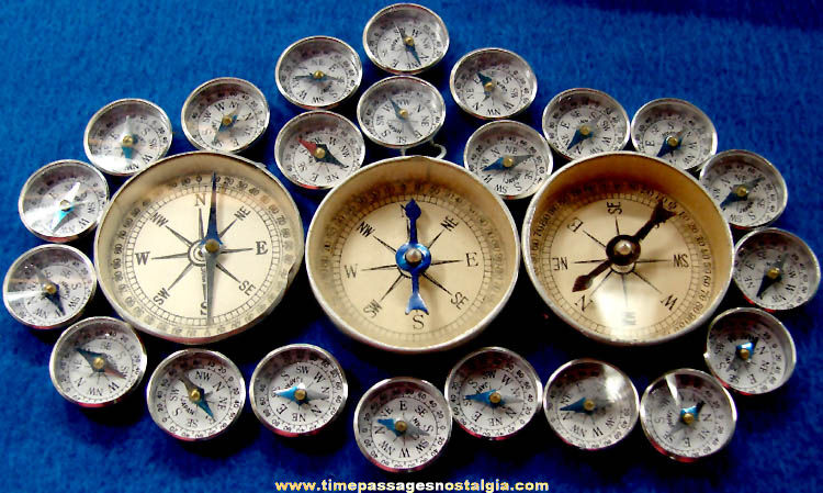 (25) Old Metal Compasses
