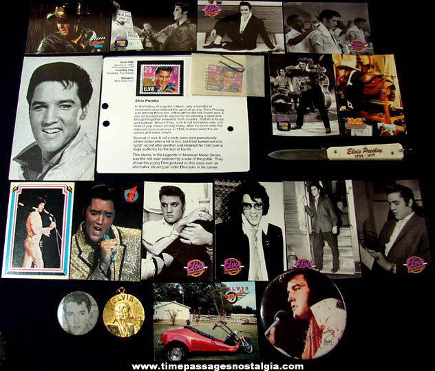 (20) Small Old Elvis Presley Singer & Actor items