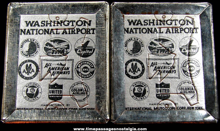 (2) Old International Mutoscope Corporation Souvenir Photomatic Photographs