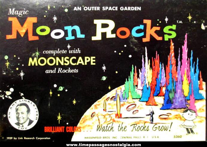 ©1959 Hassenfeld Brothers Magic Moon Rocks Moonscape Garden