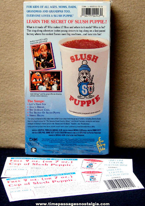 Unopened ©1996 Lets Have Fun At The Slush Puppie Factory Video Tape With Coupons