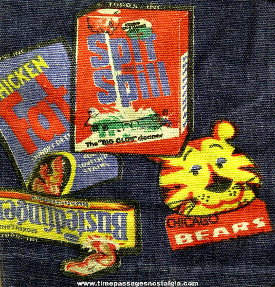 Unique Pair of 1973 Topps Wacky Packages Advertising Parody Childs Denim Pants