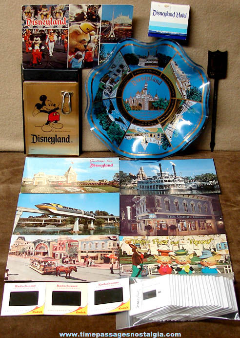 (35) Old Walt Disney Disneyland Advertising & Souvenir Items