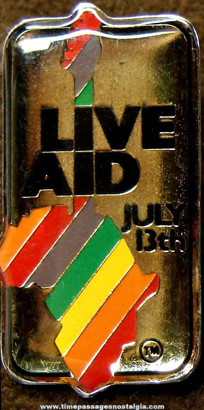Colorful ©1985 Live Aid Concert Souvenir Pin