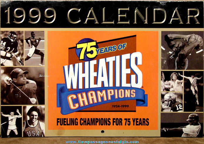 ©1998 General Mills Wheaties Cereal 75th Anniversary Advertising Voting Ballot & Calendar