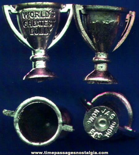 (25) 1960s Gum Ball Machine Prize Trophy Toy Charms
