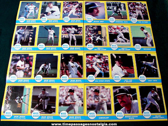 Unopened 1986 Wade Boggs Boston Red Sox Baseball (24) Star Sticker Set