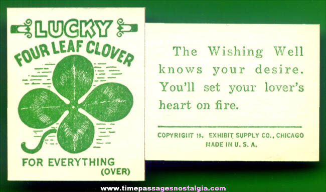 (50) 1940s Lucky Wishing Well Exhibit Supply Arcade Fortune Cards