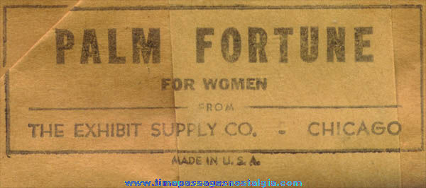 (16) Old Palm Fortune For Women Exhibit Supply Arcade Cards