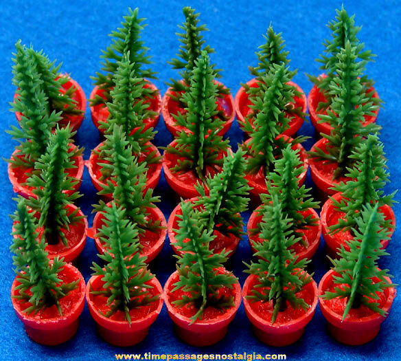 (20) Old Gum Ball Machine Miniature Prize Potted Trees