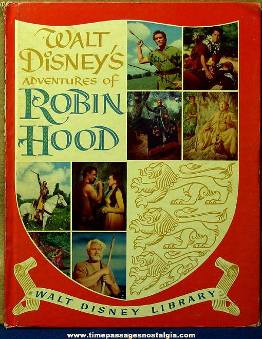 ©1955 Walt Disney's Adventures of Robin Hood Hard Back Book