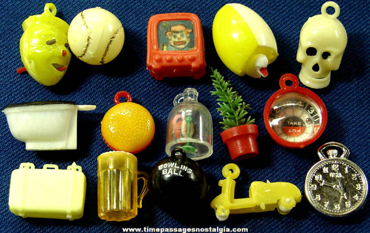 (15) Old Unusual Gum Ball Machine Prize Toys and Charms