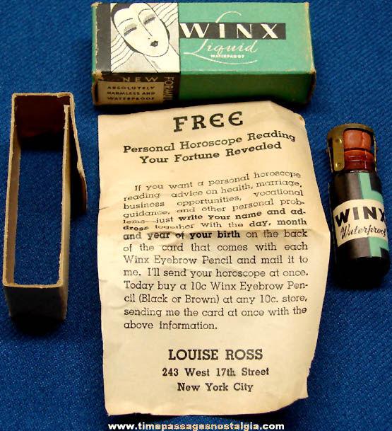 Old Boxed & Unopened Winx Eye Lash Treatment Bottle